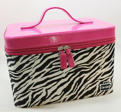 Caboodles Gilded Pleasure Nail Valet. Pink with Zebra Stripes. NEW WITH TAGS.