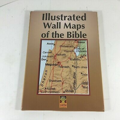 Illustrated Wall Maps of the Bible Maps VGC Missing Atlas