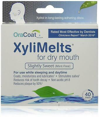 3 Oracoat Xylimelts For Dry Mouth Mint-Free 40 Count ea
