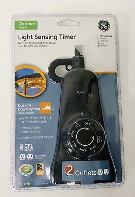 GE 6655 Outdoor Mechanical Countdown Timer, Black NEW FACTORY SEALED FREE SHIP