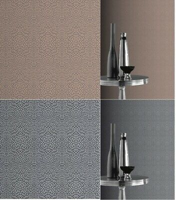 Diamond Snakeskin Wallpaper in Silver / Charcoal and Chocolate / Copper