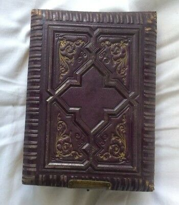 Victorian Gothic Style, Brownish colour, Photo Album with 68 Photos, holds 100