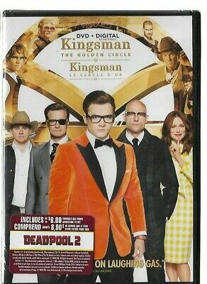 Sealed New DVD - Digital - KINGSMAN THE GOLDEN CIRCLE - Also In French