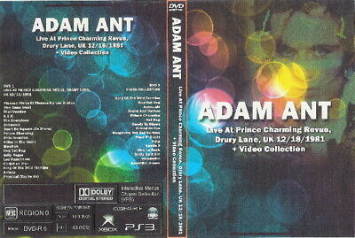 adam ant live charming revue uk 1981 & videos 2dvds the cure culture club