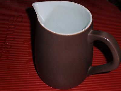 Vintage Porcelain / Ceramic Pitcher Brown And White Copenhagen Holland