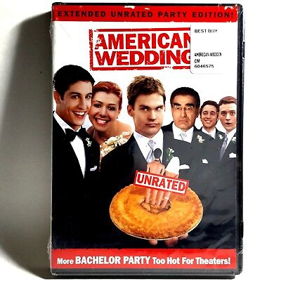 American Wedding (DVD, 2003, Widescreen Unrated Extended Party Ed.) Brand New !