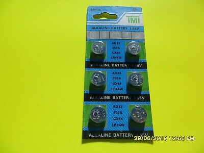 6 X Ag13 Lr44 1.55V Alkaline Button Cell Batteries Battery T Ab