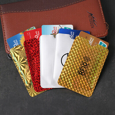 5Pcs Credit Card Holder Blocking Anti Theft Protector RFID Secure Sleeve Case