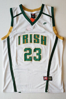 new arrival 7c9b5 52c25 NWT LEBRON JAMES St Vincent St Mary Irish High School Swingman Men Jersey  White