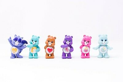 Set of 6 Series 4 Care Bears & Cousins Mini Collectible Blind Bag Figures Lot