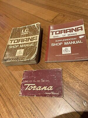 Holden Torana Lc Owners Manual Shop Manual And Supplement Gtr Xu1