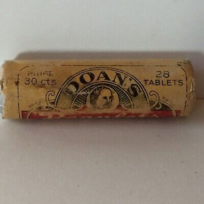 "Antique Full Doan's Regulets Pills ""A Modern Laxative."" Tin Metal Container"