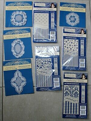 Tattered Lace Diamonds & Pearls Set - 4 Dies & 4 Matching Embossing Folders