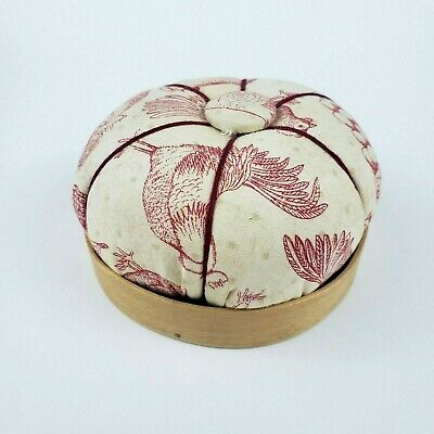 Sewing Pin Needle Cushion Rooster Maple Barbara Armstrong