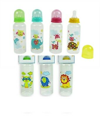 1 x First Steps 250ml Baby Feeding Bottles BPA Free Use From 0+Months 8 Design
