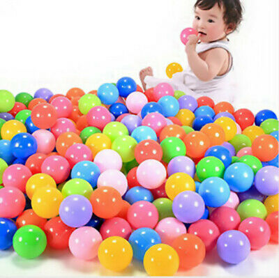 50/100/200X Swim Fun Colorful Soft Plastic Ocean Ball Secure Baby Kid Pit Toy