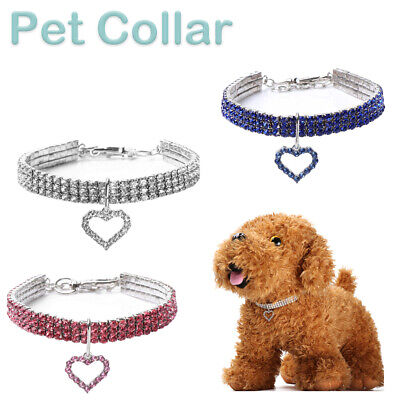 Bling Rhinestone Pet Necklace Small Dog Puppy Cat Elasticity Fancy Choke Collars