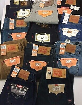 c5ebb53ccf0 NWT Authentic Levis 501 Original Button Fly Many Styles/Sizes *See Item  Descript