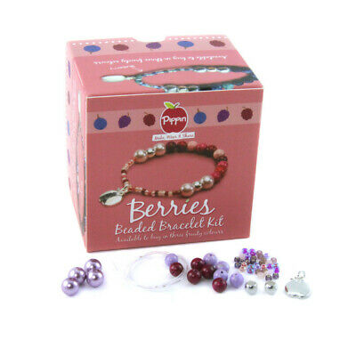 Pippin Kits Berries Beaded Bracelet Jewellery Kit - Choice of 3 Colours