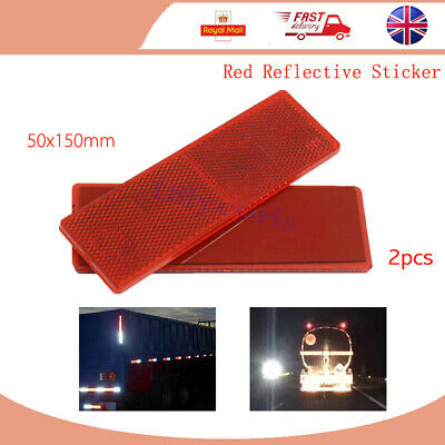 Self Adhesive Red Reflector Rectangular Caravan Trailer Truck Rear Warning Tape