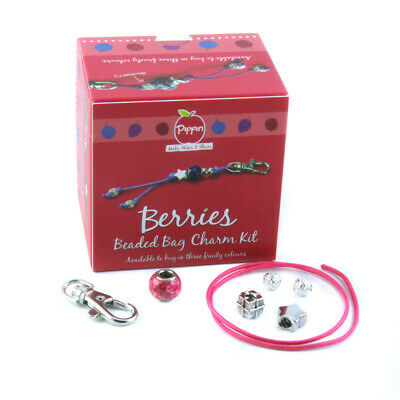 Pippin Kits Berries Beaded Bag Charm Jewellery Kit - Choice of 3 Colours