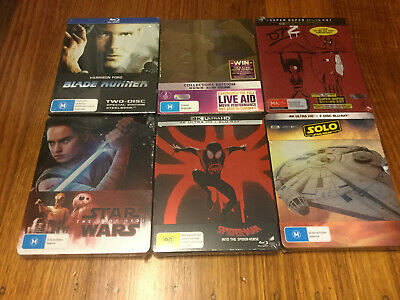 Steelbook Blu-ray Bohemian Rhapsody Star Wars Spider-Verse Deadpool 2 Blade Run