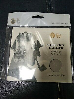 2019 Sherlock Holmes Brilliant Uncirculated Royal Mint 50p Fifty Pence Coin Pack