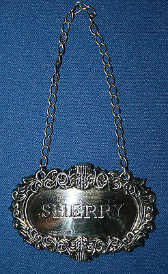Broadway and Co. Birmingham Sterling Silver Repousse Sherry Hang Tag