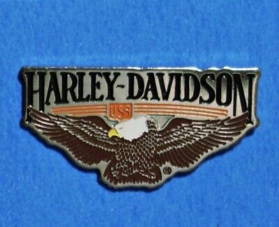 Harley Davidson - Eagle - Usa - Vintage Motorcycle Lapel & Vest Pin - Hat Pin