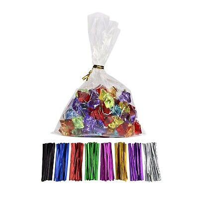 200 Clear Flat Cello//Cellophane Treat Bag 3x8 inch 1.2mil Gift Basket Supplies