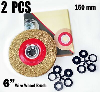 Remarkable 8 Inch Round Brass Plated Steel Wire Brush Wheel For Bench Caraccident5 Cool Chair Designs And Ideas Caraccident5Info