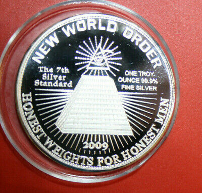 "USA-Amerika 1 Oz. .999 Silber Kunst Medaille ""New World Order"" #F2992  PP-Proof"