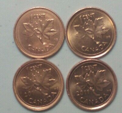 2002 & 2011 Magnetic & Non Magnetic  Canada 1 Cent  Penny  Variety Lot #9