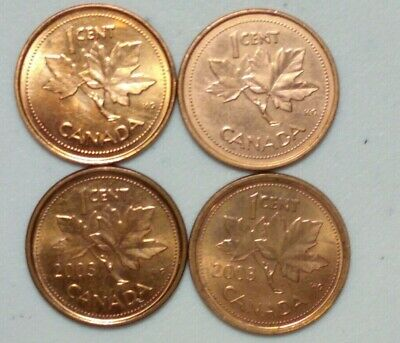 2002 & 03 Zinc and & Steel  (2003 New Effigy) Canada 1 Cent Variety Lot #3