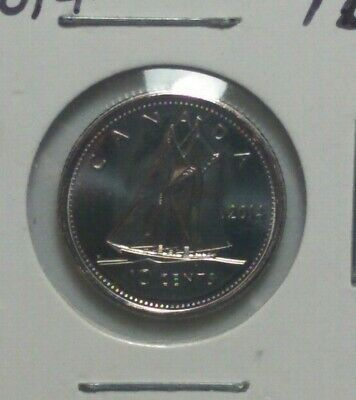 2014 CANADA 10 Cent Dime UNC Coin BU From Proof Like Set PD#34