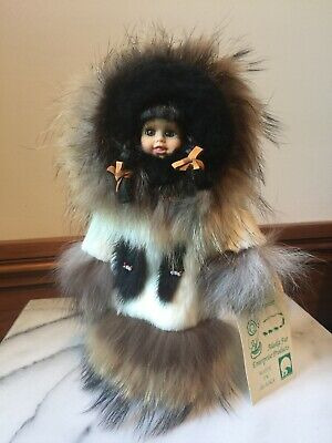 Eskimo Inuit Alaska Genuine Fur Doll - Camal Alaska Fur Enterprise Products