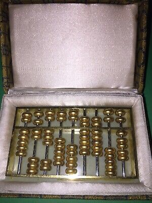 Chinese Abacus Brass carved Abacus-Calculator #14