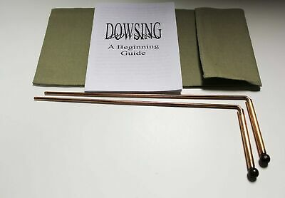 Brand New Copper Dowsing Rods with Bag and Booklet