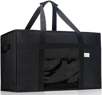 KIBAGA Premium Insulated Food Delivery Bag XXL - 23x14x15 inches Waterproof C...
