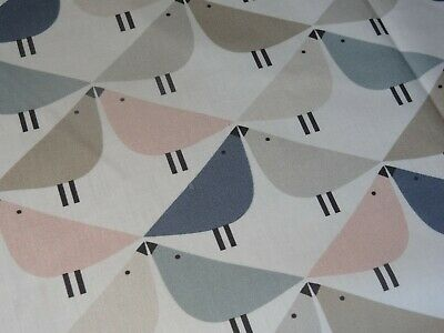 "JOHN LEWIS SCION ""LINTU"" 1.7 metre craft fabric remnant RETRO BIRDS"