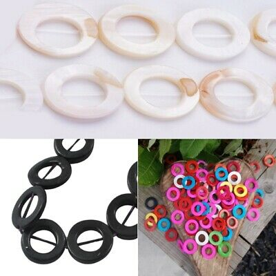 10 Shell Mother Of Pearl Donut Round Bead Frames (G2)