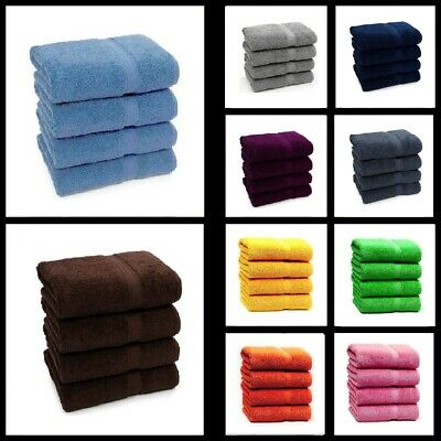 Set Of 2 & 4 Luxury Large Hand Towels 100% Pure Cotton Best Hand Feel Bale Set