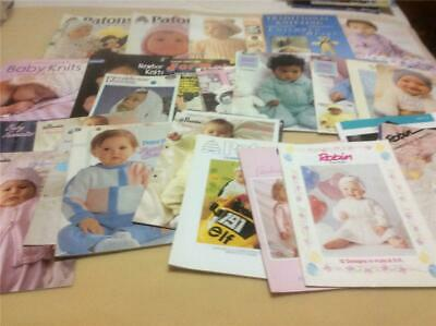 33 + Baby Babies Knitting Books Patterns Patons Panada Cleckheaton Bulk Lot