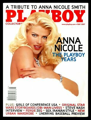 PLAYBOY MAY 2007 ANNA NICOLE SMITH PLAYBOY YEARS SHANNON JAMES BAG w/BACKING NM