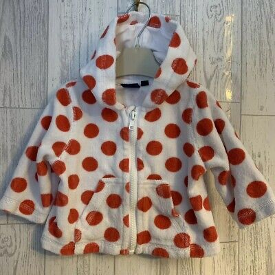 Girls Age 3-6 Months - Mini Boden Towelling Hooded Top