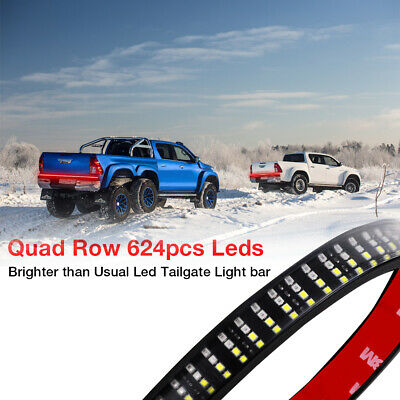 "60"" INCH Quad Row LED Strip Light Bar Reverse Brake Turn Signal Stop Rear Truck"