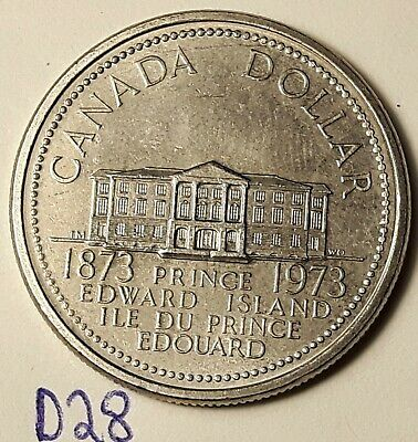 ERROR COIN 1973 Die Crack over BETH One Dollar Coin CANADA D28