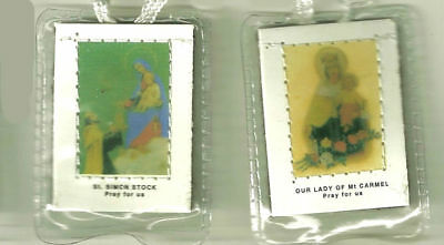Our Lady of Mount Carmel White Scapular with Prayers