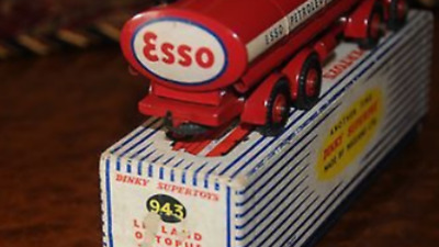 Esso oil tin TRUCK DINKY NO. 943 LEYLAND OCTOPUS ESSO TANKER - MINT BOXED