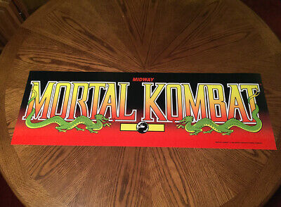 "Mortal Kombat classic arcade video game huge 36"" marquee style wall poster"
